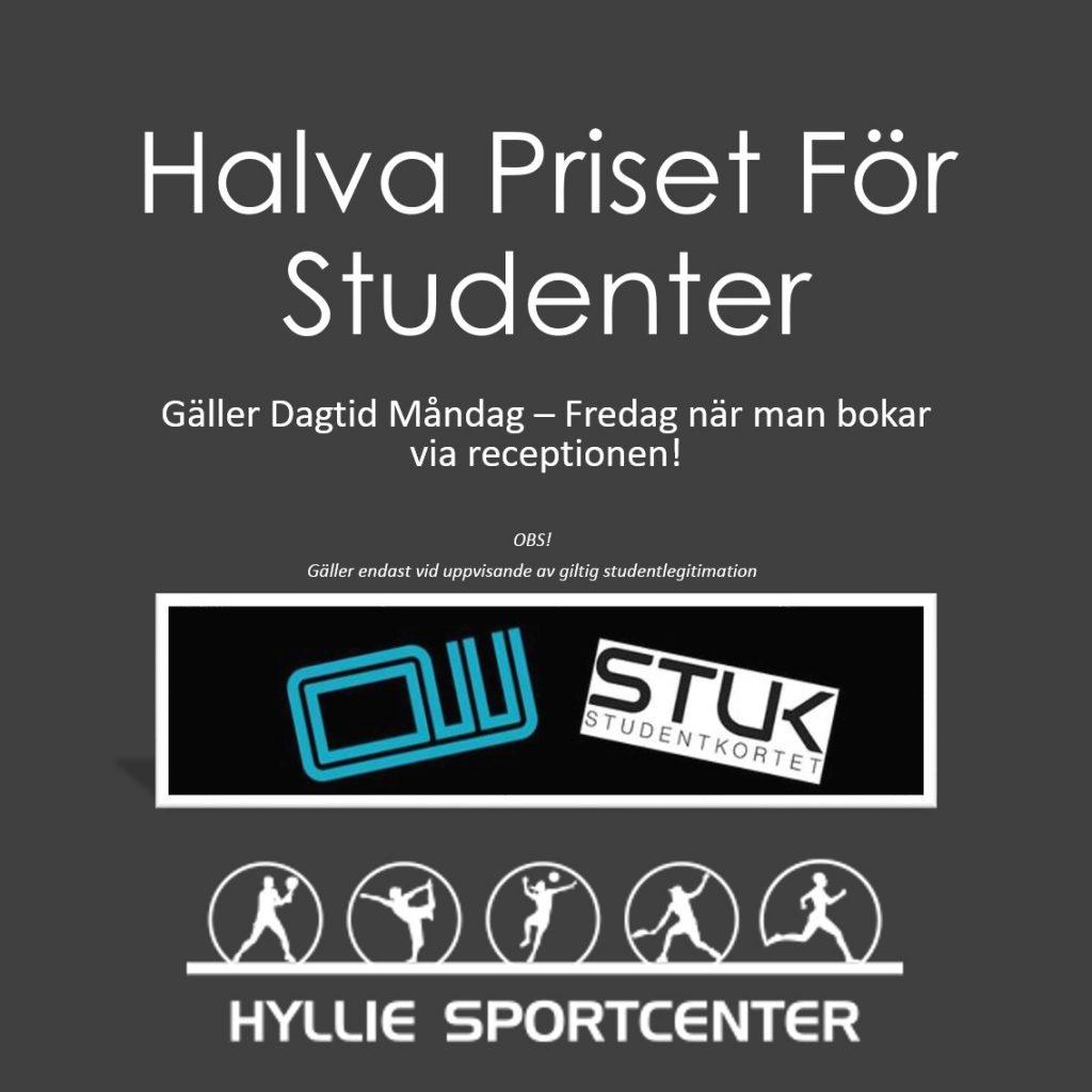 Halva priset för studenter